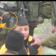 A whole battalion of Zionist soldiers in order to arrest a Palestinian child !!!